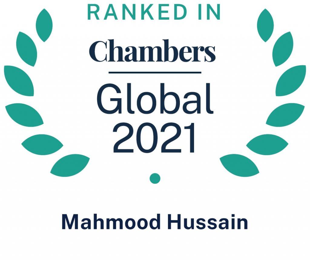 Chambers Global 2021 Ranked Lawyer