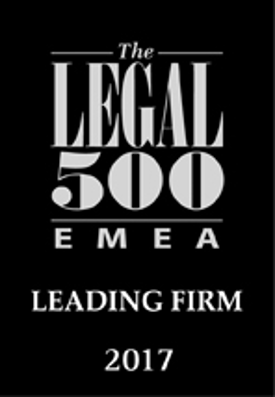 The Legal 500 EMEA Leading Firm 2017